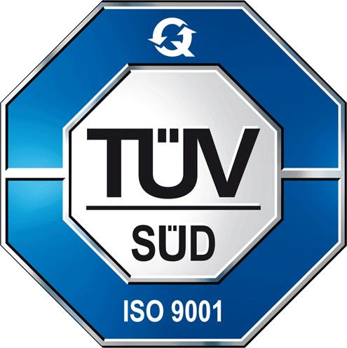 Certificazione ISO 9001:2015 con TUV SUD